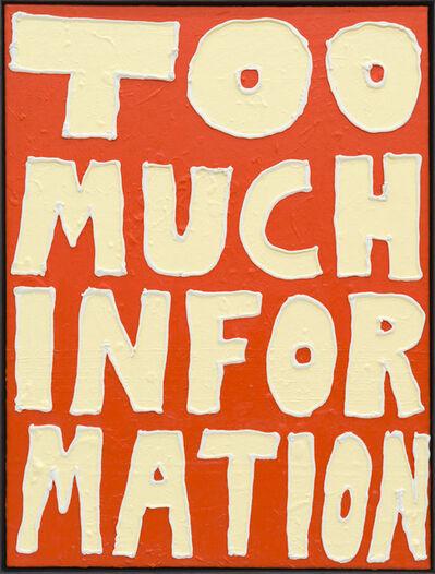 Georg Weißbach, 'Too much information', 2020