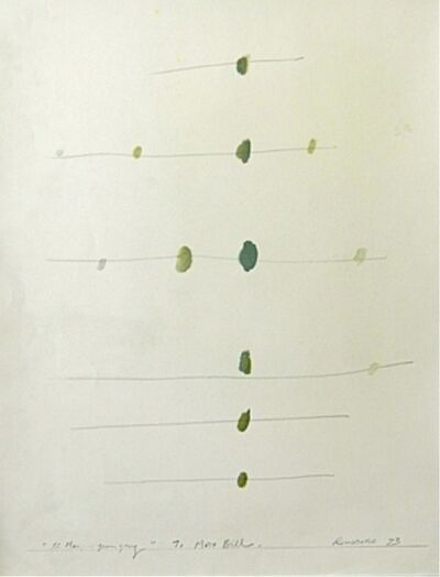 Osvaldo Romberg, '12 Marks...Green Grey to Max Bill', 1973
