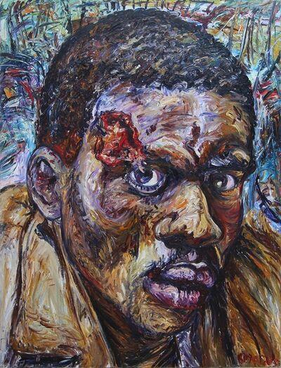 George Gittoes, 'Portrait of Samuel', 1995