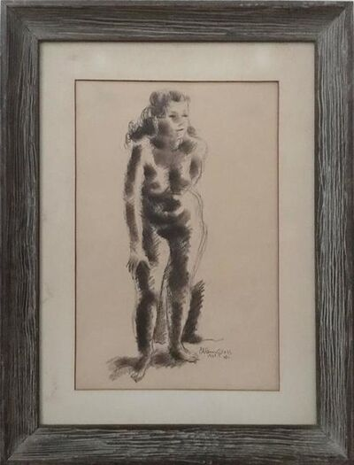 Chaim Gross, 'Rare Early Nude Drawing American Modernist Sculptor', 20th Century