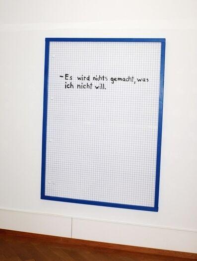 Linus Bill, 'Vertrag I', 2011