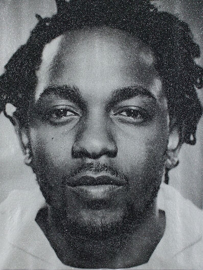 Russell Young, 'Kendrick Lamar (Tempest Silver)', 2018