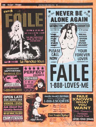 FAILE, 'Yellow Pages (II)', 2007