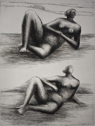 Henry Moore, 'Two Reclining Figures VIII', 1977/78