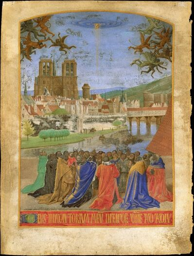 Jean Fouquet, 'The Right Hand of God Protecting the Faithful against the Demons', ca. 1452–1460