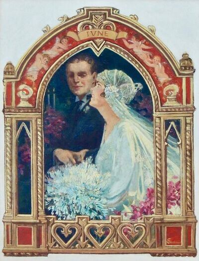 Elbert McGran Jackson, 'June Bridal Couple, Saturday Evening Post Cover', 1929
