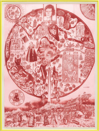 Grayson Perry, 'Map of Nowhere (Red)', 2008