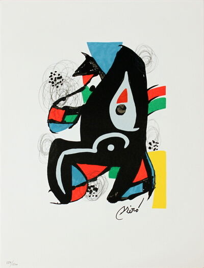 Joan Miró, 'Untitled from La Melodie Acide XIV', 1980
