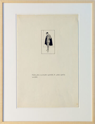 Matt Mullican, 'Untitled (Business Man Drawing Figures)', 1974