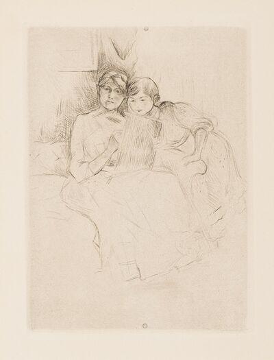 Berthe Morisot, 'Berthe Morisot Dessinant avec sa Fille (Johnston 8)', 1889