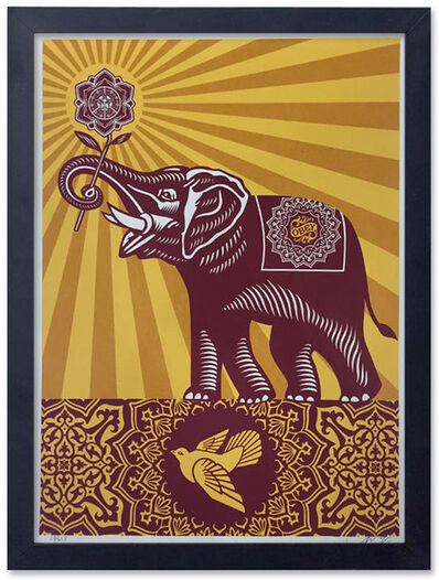 Shepard Fairey, 'Obey Holiday Peace Elephant', 2015