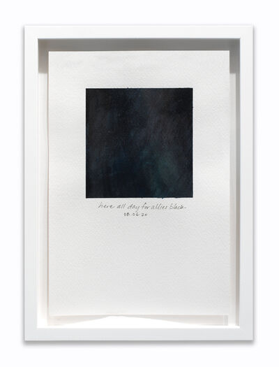 "Amanda Williams, 'What black is this you say? --""You're here all day for allies that end speeches on racial injustice with 'Marco Belinelli is out tonight'."" --black (study for 08.06.20)', 2020"
