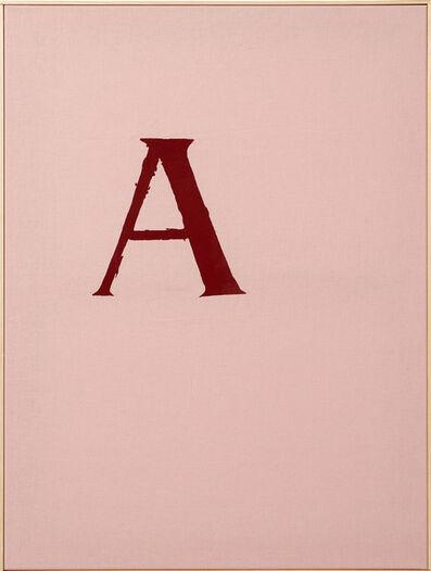 Walter Dahn, 'Scarlet Letter', 2014