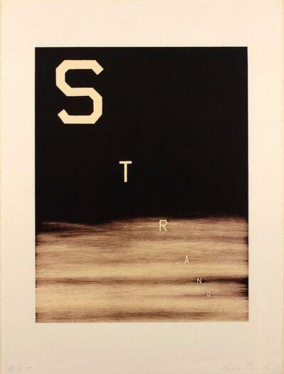 Ed Ruscha, 'Stranger', 1983