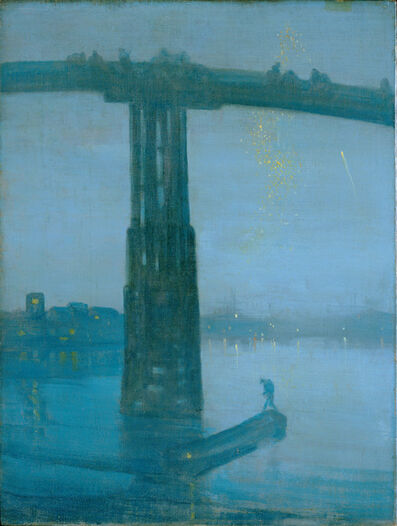 James Abbott McNeill Whistler, 'Nocturne: Blue and Gold—Old Battersea Bridge', 1872-1875