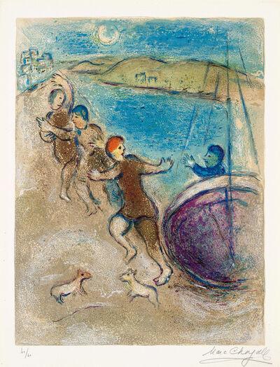 Marc Chagall, 'Les Jeunes gens de Méthymne (The Young Men of Methymn), plate 18 from Daphnis et Chloé (M. 324, see C. 46)', 1961
