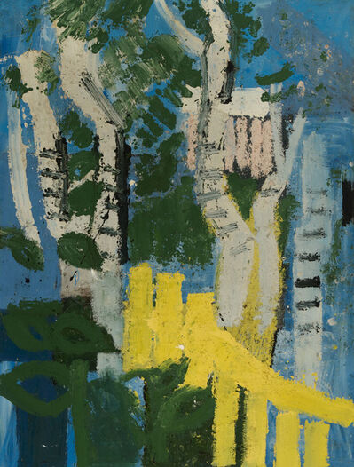 Joash Woodrow, 'White Trees and Yellow Fence', 1980