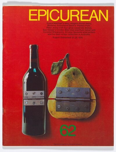Les Mason, 'Epicurean Magazine Cover Design August-September ', 1976