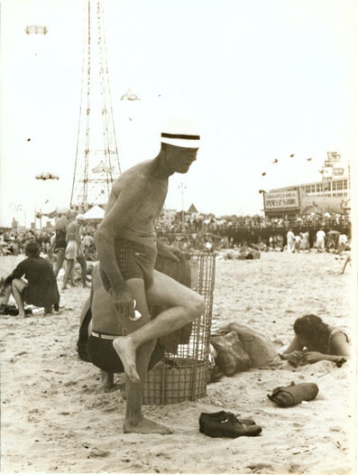 Helen Levitt, 'Man at Beach, Coney Island, NY', 1950c/1950c