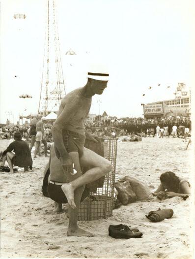 Helen Levitt, 'Man at Beach, Coney Island, NY', 1950c/1950c