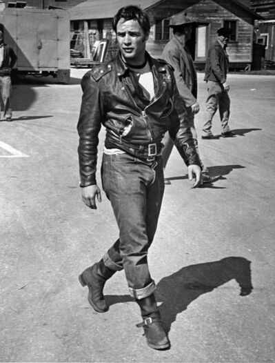 "Phil Stern, 'Marlon Brando during the filming of ""The Wild One""', 1954"