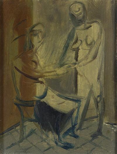 Aldo Borgonzoni, 'The visit', 1945