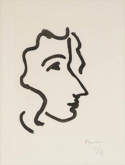 Henri Matisse, 'Nadia au profil aigu', 1948
