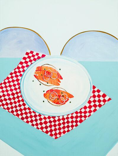 Sarah Osborne, 'Bagels, gravlax, câpres et oignons rouges', 2016
