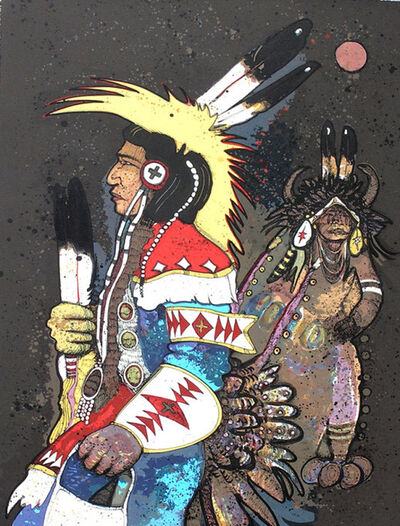 Kevin Red Star, 'Crow Dancers at Midnight', 20th century