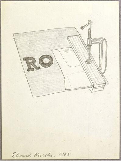 Ed Ruscha, 'Clamp Drawing', 1963