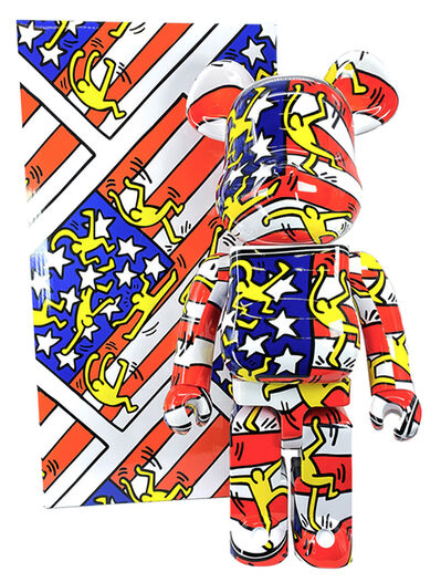 Keith Haring, 'Keith Haring Bearbrick 1000% American flag (Haring DesignerCon BE@RBRICK)', 2020