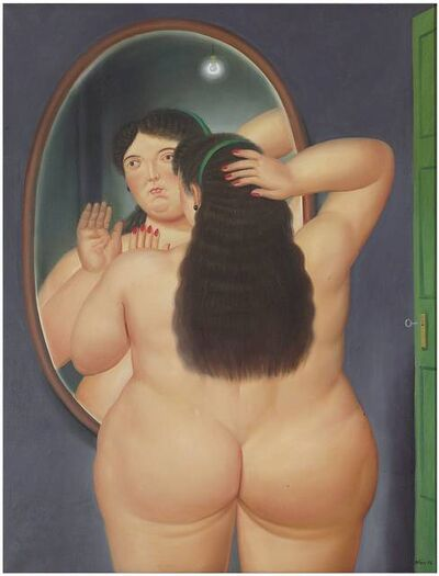 Fernando Botero, 'Woman in front of a mirror', 1986