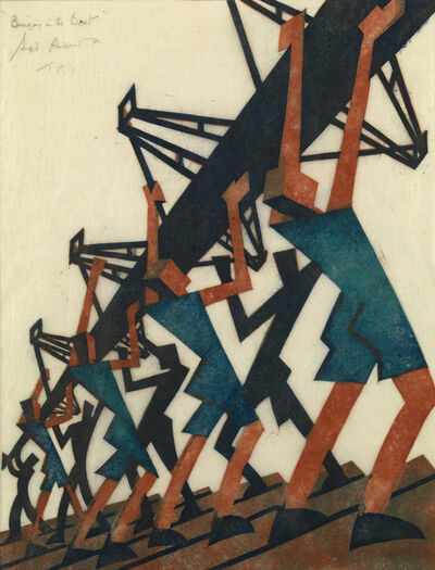 Sybil Andrews, 'Bringing in the Boat', 1933