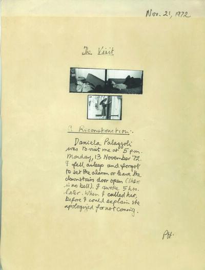 Peter Arthur Hutchinson, 'The visit ', 1972