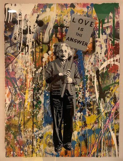 Mr. Brainwash, 'Albert Einstein - Love is the answer', 2017