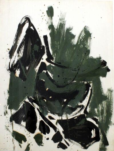 Matsumi Kanemitsu, 'Abstraction (Green, Black, Brown)', 1961