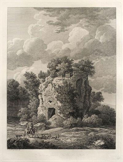Johann Christian Reinhart, 'Sepolcro a Falerium città Etrusca ditrutta - Roman Tomb at Falerii Novi', 1796