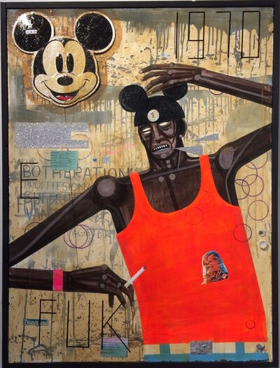 Carlos Ramirez (b. 1967), 'Tripping At Disneyland', 2016