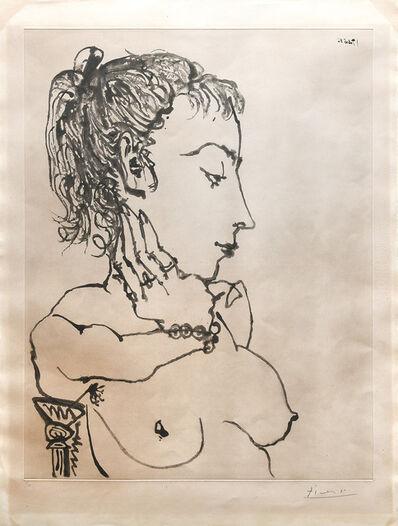 Pablo Picasso, 'Buste de femme à la queue de cheval: Jacqueline.', 1955