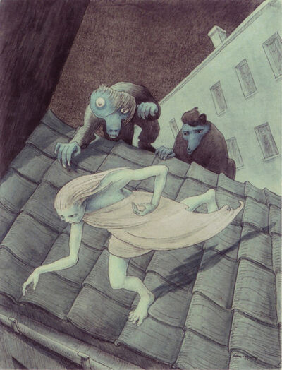 Walter Schnackenberg, 'Escaping Over the Roof', 1955