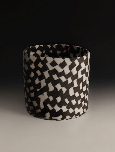 Lorraine Shemesh, 'Large Black & White Woven Neriage Cylinder', 2017
