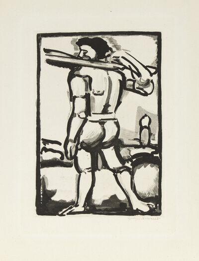 Georges Rouault, 'Aide-Bourreau (Portant un des Bois de la Croix)', 1936