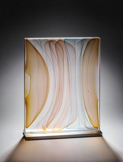 Jamie Harris, 'Modulated Infusion Block in Golds and Light Blue', 2014