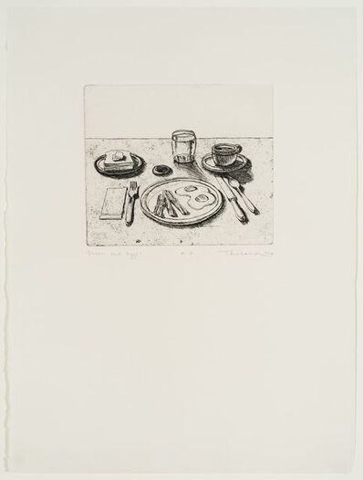 Wayne Thiebaud, 'Bacon and Eggs (from Delights)', 1964