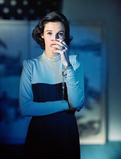 "Horst P. Horst, 'Barbera ""Babe"" Cushing Mortimer Paley, Dress by Traina-Norell', 1946"