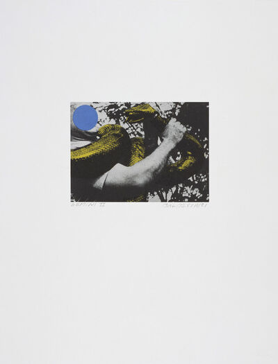 John Baldessari, 'Man with Snake (Blue and Yellow)', 1991