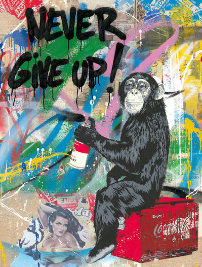 Mr. Brainwash, 'Everyday Life - Never Give Up', 2019