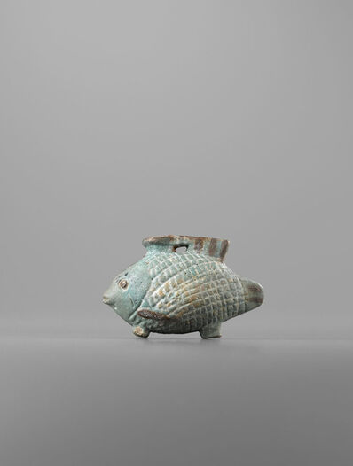 Unknown Egyptian, 'Ancient Egyptian Faience Aryballos in the Shape of a Fish (Tilapia Nilotica)', middle of the 6th century B.C.