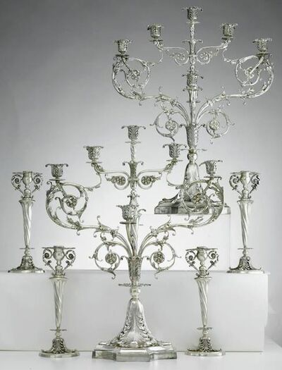 Tiffany & Company, 'Candelabrum in the George III style for the 1900 Paris World's Fair', 1899