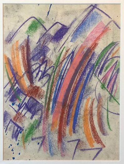 Erle Loran, 'Erle Loran Modernist Abstract Colorful Pastel Drawing California Artist', Mid-20th Century